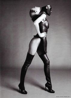 Up and Die: DOUBLE IDENTITY///Alexander McQueen Thigh High Boots. L'Officiel Russia April 2010