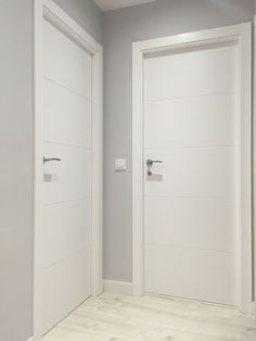 Grey Interior Doors, Interior Door Styles, Modern Exterior Doors, House Outside Design, House Design, Modern Villa Design, Flur Design, Room Door Design, Apartment Door
