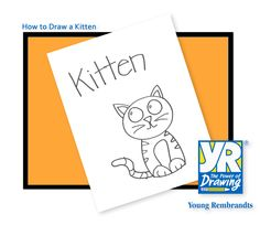 Learn how to draw this sweet little kitten with the kids today! Drawing with the Young Rembrandts method encourages fine motor development, spatial reasoning, order sequencing abilities and self-discipline.