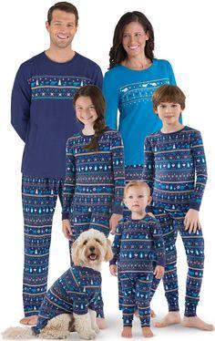fa2da968bb Peace on Earth Fair Isle Matching Family Pajamas