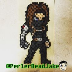 Today is #PBJTuesdayCharacterDay ! Where I will be uploading a new character every 30min from 10-5! 2:30 slot goes to Bucky Barnes the Winter Soldier! #buckybarnes #bucky #wintersoldier #thewintersoldier #captainamerica #marvel #marvelcomics #marveluniverse #jamesbuchananbarnes  #perler #perlers #perlerbead #perlerbeads