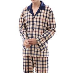 Mens Casual Home Cotton Comfortable Long Sleeve Pajamas Set Hipster Outfits  Men 905d99199