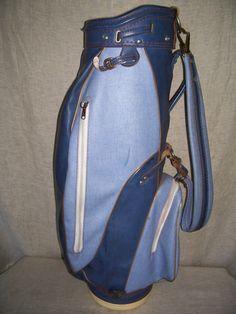 Vintage Golf Bag BEN HOGAN light blue 34 inches tall - multi use Flowerplant ? by on Etsy Vintage Golf Clubs, Golf Bags, Sling Backpack, Light Blue, Backpacks, Etsy, Women's Backpack, Backpack, Pastel Blue