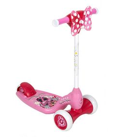 Minnie Mouse Three-Wheel Preschool Scooter by Minnie Mouse #zulily #zulilyfinds