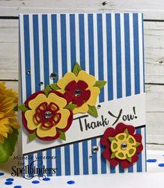 Thank you tudor rose card