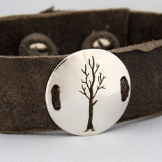 tree of life leather cuff - my urbanware