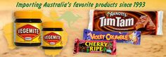 Australian Candy & Food Store USA: Tim Tams, Vegemite, Violet Crumbles and Cherry Ripe Australian Candy, Australian Food, Candy Recipes, Snack Recipes, Violet Crumble, Tim Tam, Girl Scouts, Pop Tarts, Cherry