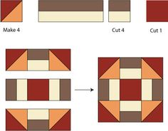 Grecian Square Quilt Block Pattern - Janet Wickell