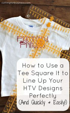 How to Use a Tee Square It to Line Up Your Heated Transfer Vinyl Designs Perfectly plus Cricut Freebies | Tutorials for Your Cricut Projects on Frugal Coupon Living.