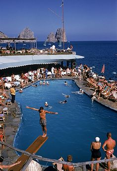 Canzone del Mare at the Marina Piccola, Capri, Italy, 1954