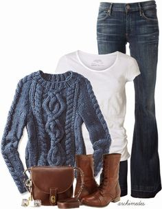 Get Inspired by Fashion: Casual Outfits | Knitted Sweater