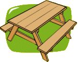 DIY: Kids picnic table, maybe ross would make me one.