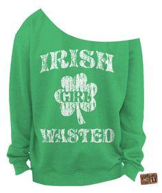 IRISH Girl Wasted St PATRICKS Day SHIRT by Vintageflyclothingco