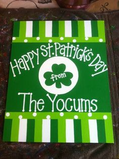 St. Patrick's Day Door Banner.