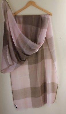 NEW-Eskandar-Pink-Check-Lux-Hand-Woven-Hand-Spun-100-Cashmere-Shawl-Scarf-Wrap