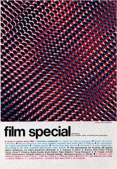 Vintage and Retro - Advertising - Magazine Ad - Film special (Italy) Graphic Design Posters, Modern Graphic Design, Retro Design, Graphic Design Illustration, Graphic Design Inspiration, Typography Design, Gfx Design, Design Art, Print Design