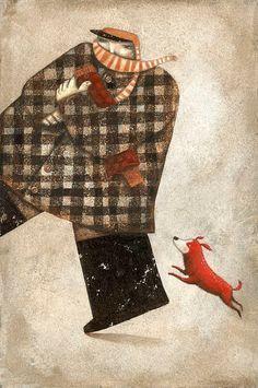 Invierno, frío - Ilustración Ofra Amit