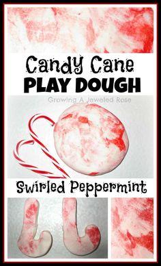 Candy Cane Playdough from Growing a Jeweled Rose - TodaysMama.com