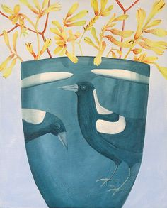 MagpieVase by cate edwards, via Flickr