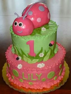 Lady Bug 1st Birthday Cake By: Cheryl's Home Kitchen. Find us on FaceBook!