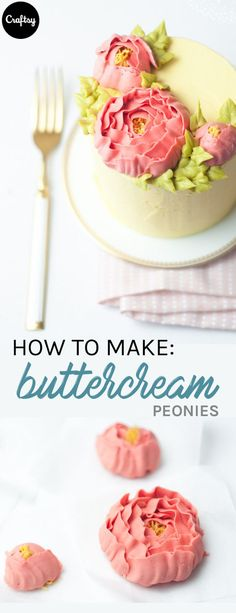 Every cake decorator should know how to pipe these trendy buttercream flowers. Cake Decorating Designs, Buttercream Decorating, Creative Cake Decorating, Cake Decorating Techniques, Creative Cakes, Cookie Decorating, Cake Designs, Decorating Tools, Buttercream Flowers Tutorial