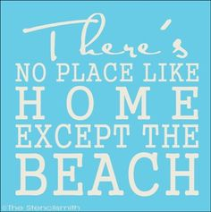 1717 - There's no place like home BEACH-There's no place like home BEACH stencil subway typography word art