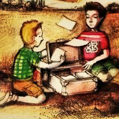 """I protagonisti del libro """"1944 - 2014 Accadde a Castenaso 70 anni fa"""": due bambini."""