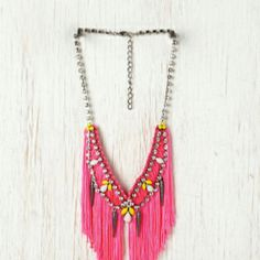Neon necklace.