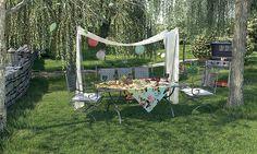 Cum ați decora o grădina pentru o petrecere? Outdoor Furniture, Outdoor Decor, Hammock, Patio, Model, Home Decor, Party, Decoration Home, Terrace