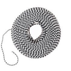 DIY Pendant Cord in Bulk - Black & White Houndstooth