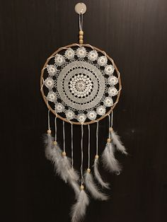 Just Dream, Dreamcatchers, Crochet, Handmade, Home Decor, Hand Made, Decoration Home, Room Decor, Dream Catcher