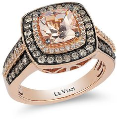 Le Vian Chocolatier Le Vian 14ct Strawberry Gold Vanilla #Diamond ring