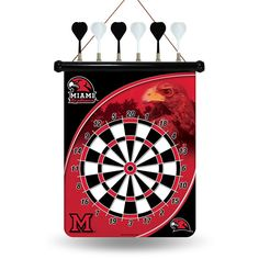 Miami Ohio Redhawks NCAA Magnetic Dart Board