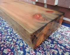 """Reclaimed Fireplace Mantle or Mantle Shelf 60"""" x 8"""" x 3"""" - Rainbow Like Colored Old Growth Norway Pine Mantle - Timber Beam Mantel - Rustic by RusticbiltDecor on Etsy"""