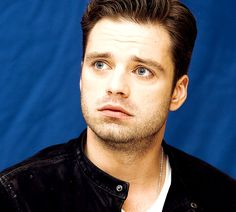 I did not expect Sebastian Stan's puppy dog eyes to be this adorable -- just look at them under the sadly tilted eyebrows!