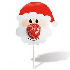 Santa Lollipop Holders - BOGO Get 24 holders for the price of Fold-and-tab holders (same on both sides) use your own round lollipops as Santa noses. Set of 12 Diy Christmas Gifts For Kids, Homemade Christmas Gifts, Christmas Activities, Diy For Kids, Christmas Fun, Holiday Crafts, Crafts For Kids, Christmas Decorations, Christmas Ornaments