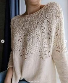 Lace Knitting Stitches, Baby Knitting Patterns, Hand Knitting, Crochet Patterns, Pulls, Lana, Knitwear, Knit Crochet, Sweaters For Women