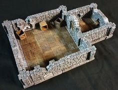 Dunkin's Hirst Arts modular fieldstone dungeon with tavern floors.