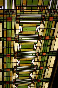 Light grille in entry of studio. 1898. Frank Lloyd Wright. Home and Studio. Oak Park, Illinois. Original home built in 1889.