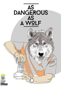 "Set of illustrations made for ""Niedziedz W Koronie"" roastery and cafe. Wolf, Behance, Illustrations, Coffee, Movie Posters, Animals, Art, Kaffee, Art Background"