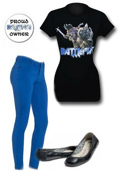 LADIES NIGHT OUT: Battle Pug inspired outfit by Danielle Deihm Jeggings: http://www.dailylook.com/p/Block-Party/Casual-Chic-Jeggings/71459.html Button: http://www.superherostuff.com/battlepug/buttons/battlepug-proud-owner-button.html?itemcd=pinbattpugowner&utm_source=pinterest&utm_medium=social&utm_campaign=featuredoutfit Flats: http://www.toms.com/women/black-camila-womens-ballet-flats