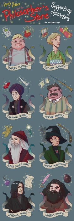 Harry Potter and the Philosopher's Stone supporting characters École Harry Potter, Magia Harry Potter, Classe Harry Potter, Fans D'harry Potter, Mundo Harry Potter, Harry Potter Characters, Harry Potter Universal, Harry Potter Illustrations, Harry Potter Drawings