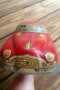 #Vintage Toy Fire Chief Tin Litho Car  by #VintageReinvented