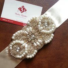 Cinturones bordados para vestidos de novias....Belén Guedez Novias♥