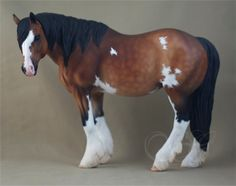 Breyer TR Idocus; customized and painted by Sue Kern