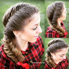How to French Fishtail Hairstyle Step By Step Hair Tutorial. Tutorial below!