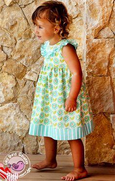 Alana baby dress - newborn to 24 mths | YouCanMakeThis.com