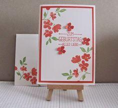 Petra Hansen: Painted Petals Geburtstagskarte in Calypso