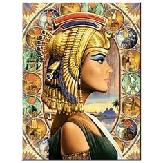 full Square DIY Diamond painting Egyptian woman Round 5D cross stitch pattern diamond embroidery Res Ancient Egyptian Art, Egyptian Goddess, Egyptian Pharaohs, Queen Nefertari, Egypt Art, Paint By Number Kits, Number Art, Art Mural, Love Painting