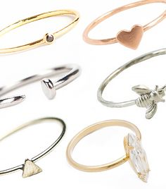 @Who What Wear - Click through for 17 delightful, delicate, dainty rings that are guaranteed to play nice with your jewelry box (and your credit card).